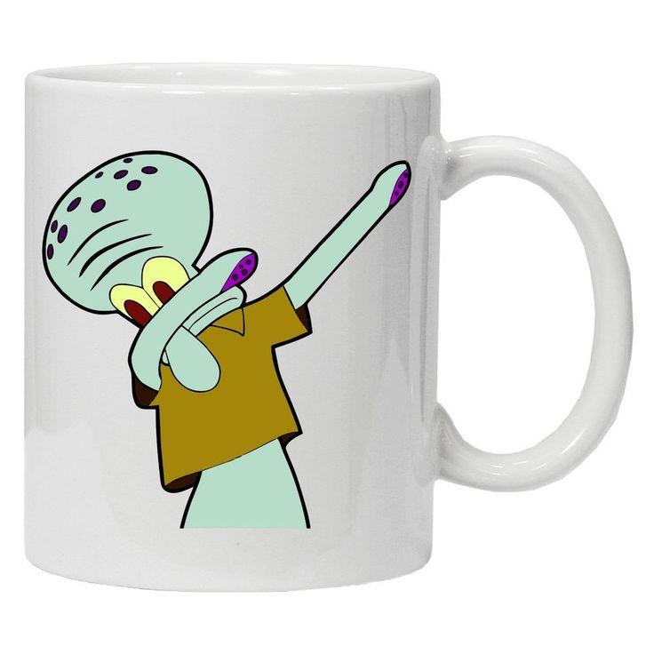 Squidward Dabbing Spongbob Squarepants Inspired Tea Coffee Mug Dab Popculture #Handmade #Personalised