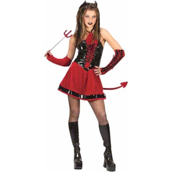 Teen Corsette Devil Girl Costume