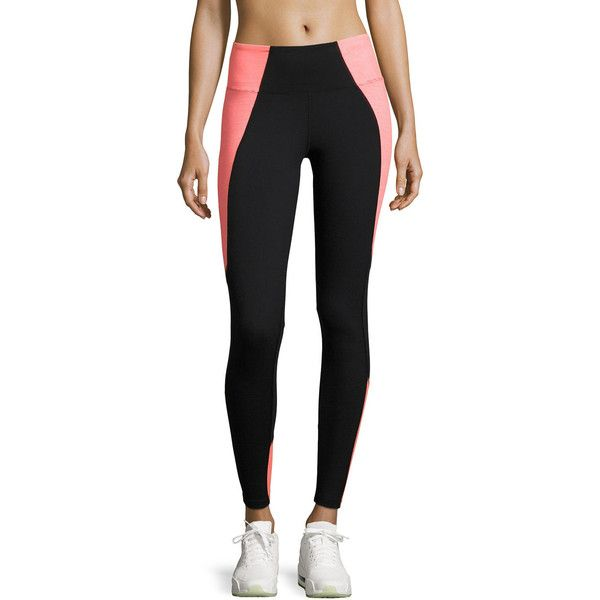 Marika Tek Jordan Xtreme Spliced Performance Leggings ($49) ❤ liked on Polyvore featuring pants, leggings, stretch trousers, wide-leg trousers, marika pants, stretch leggings and pull on stretch pants