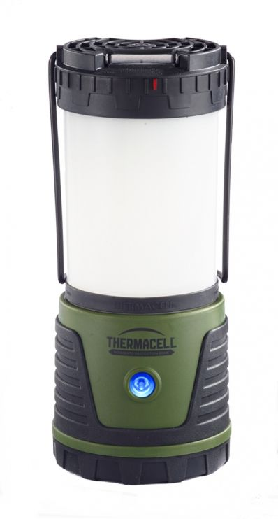 """The ThermaCELL Repellent Camp Lantern is a new durable, water-resistant repellent Camp Lantern that provides bright light and repels mosquitoes. With a heavy-duty rubberized base, 40 hours of use at its highest setting, and the ability to keep biting mosquitoes, black flies and """"no see-ums"""" at bay, this lantern makes camping more enjoyable. The Camp Lantern offers multiple features: Read more at…"""