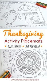 Thanksgiving placemats kids will love to color and work on during your holiday dinner. What a fun idea! #thanksgivingactivities #thanksgivingwithkids