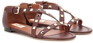 Valentino Garavani Rockstud leather sandals - $612.00