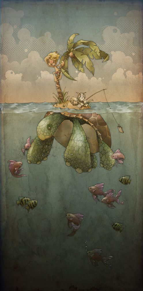 I Think This Would Make A Great Mural For A Boys Room. Animals and Animal Transport by Barnaby Purdy, via Behance