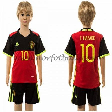 Belgia Barn UEFA Euro 2016 E. Hazard 10 Hjemme Draktsett kortermet