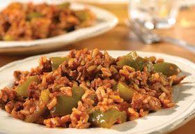 Unstuffed green peppera