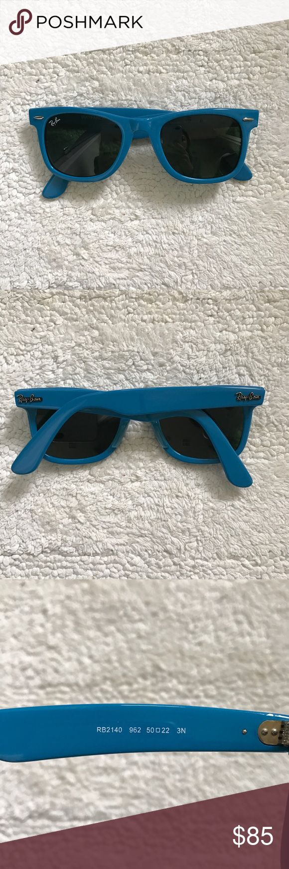 Ray Ban wayfarer sunglasses Original authentic Ray Ban RB2140 wayfarer sunglasses in color #962. These are brand new with the tags, cleaning cloth and case. Hand made in Italy. Size 50-22 Ray-Ban Accessories Sunglasses