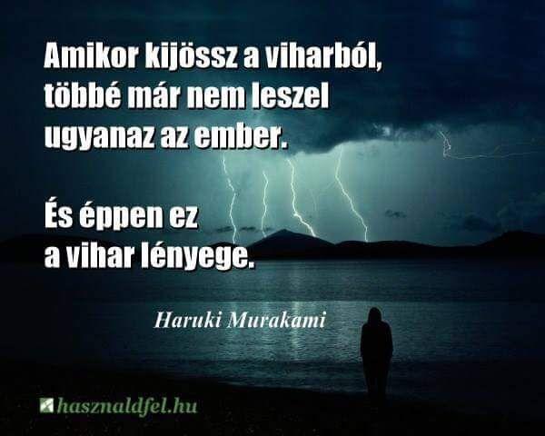 Murakami Haruki idézete a fejlődésről. A kép forrása: Használd fel