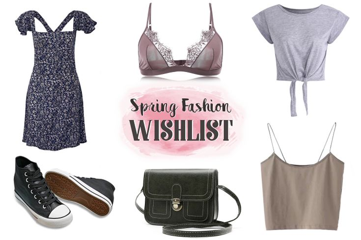 Spring Fashion Wishlist  Blue Floral Backless Dress|High Top Sneakers|Casual Gray Crop Top|Casual Nude Coat|Sexy Lace Bralette|PU Leather Crossbody Bag|Spaghetti Strap Tank Top  The spring season is nearly here and with the warm winds of spring breathing into our lives it is the perfect time to start reviving our fashion closets letting in new trends. Here are some of my favorite picks which I've collected with the help of Newchic fashion and beauty store. They might not be very trendy but I…