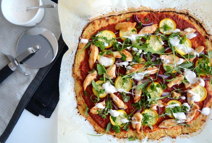 Sunn pizza med blomkålbunn!