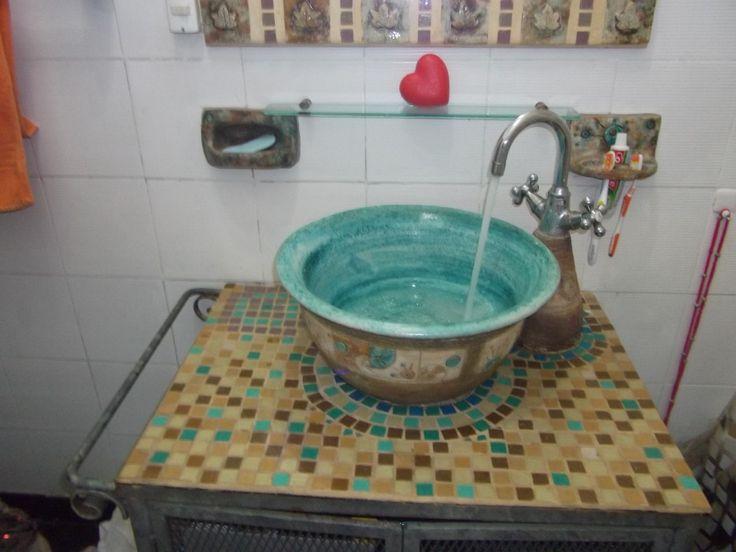 decoracion para baños de restaurantes | bacha ceramica artesanal, decoracion en baños, jaboneras
