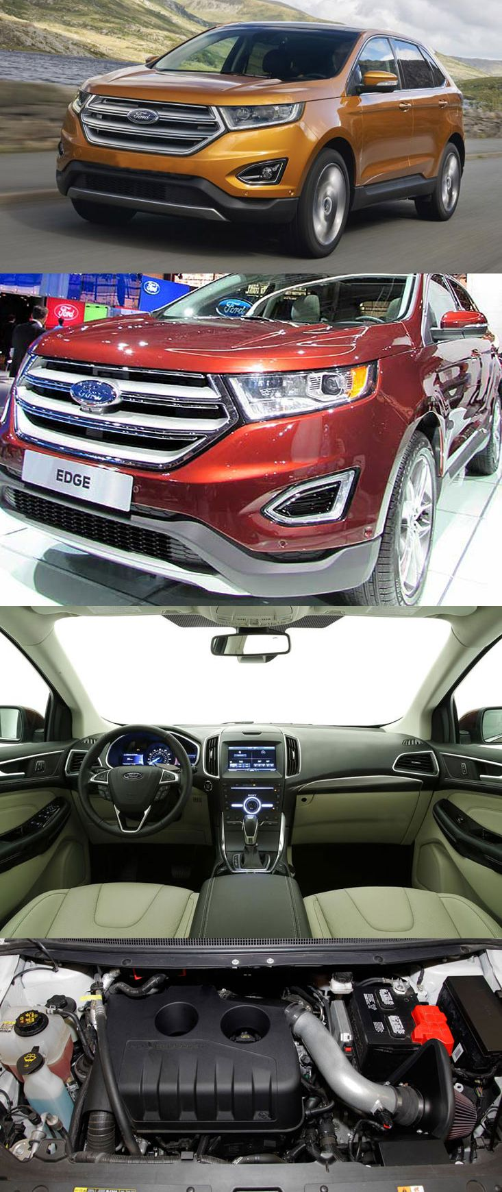 Ford edge euro spec to make debut at frankfurt 2015