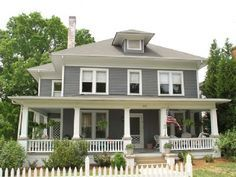 shingle style four square house duplex - Google Search