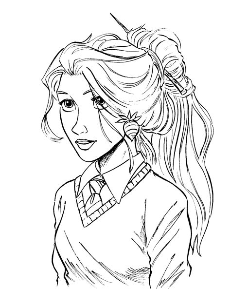 Luna lovegood glasses coloring pages coloring pages for Luna lovegood coloring pages