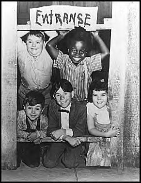 Little Rascals.I think it came on tv on sat morning.reruns that is.