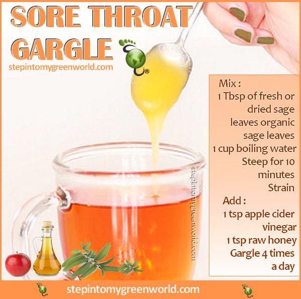 Home Remedies For Sore Throat Vinegar