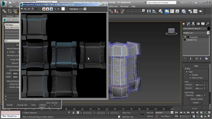 3dsMax Top Tip: Unwrapping UVs for Normal Maps for Games