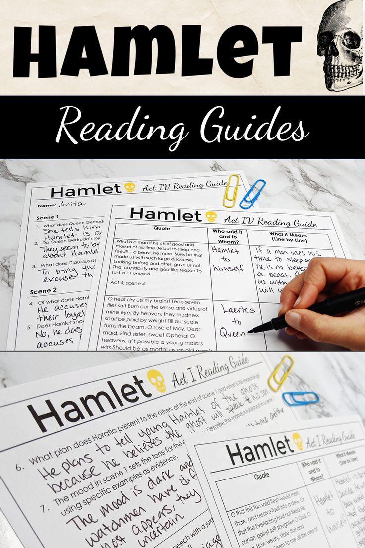 Hamlet Reading Guide Bundle High School Literature Teaching Shakespeare Teaching Literature [ 1104 x 736 Pixel ]