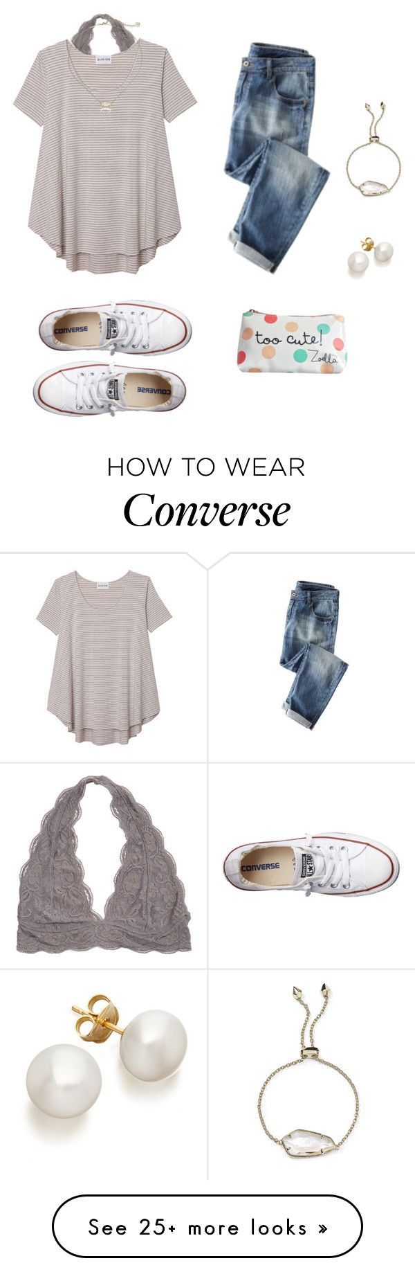 """""""⚪️⚫️"""" by avazumpano on Polyvore featuring Olive + Oak, Converse and Kendra Scott"""