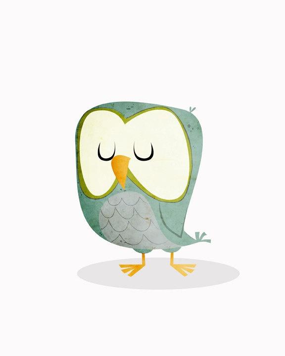 Walter the Night Owl.  falldowntree.  Etsy.