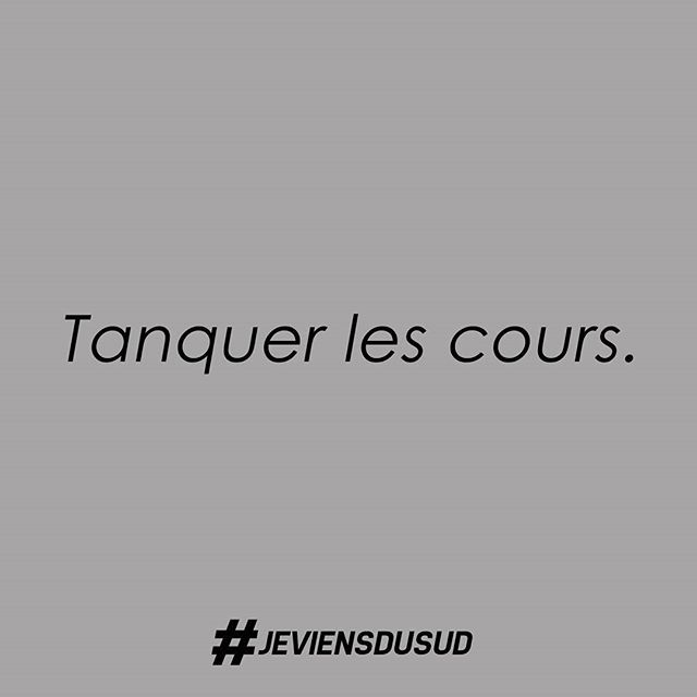 """Une seule solution avec ce froid : tanquer les cours ! Du verbe provençal """"se tanca"""", rester immobile (à la maison donc), sécher les cours. C'est aussi rester figé, planté.  #JeViensDuSud #ecole #marseille  #langue #expressions #aix #aixenprovence #provence #igersmarseille #toulon #nice #cannes #montpellier #avignon #toulouse #nimes #bastia #ajaccio #corse #sudouest #var #marseillerebelle #laviesurmars #paris #aixmaville #olympiquedemarseille #marseillecartepostale #perpignan"""
