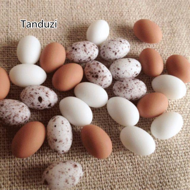 Tanduzi 12 ШТ. Симпатичные Миниатюрные Яйца Смолы Голубь Яйца Перепелиные Яйца Моделирования Мини-Птица, Яйцо Dollhouse Мосс Микро Пейзаж Украшения