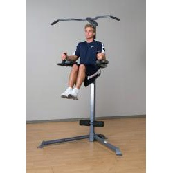 $156.99 OVERSTOCKED.COM Power Tower station=Impex. *flip-out arms for an array of muscle-toning options, then folds securely for easy storage when not in use.        Features flip arms      Durable powder coated finish      2-inch round and 2-inch x 2.75-inch rectangular 14-gauge steel frame construction      Triangular base frame construction allows you to place the unit neatly into the corner of the room      Chin up bar, knee raise and dip station      Dip handles flip up for un...
