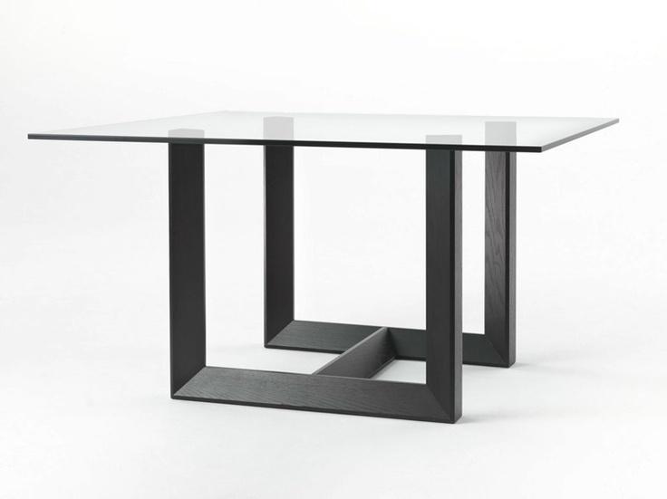 Square oak table ROVERE by Giulio Marelli Italia | design Studio crGM