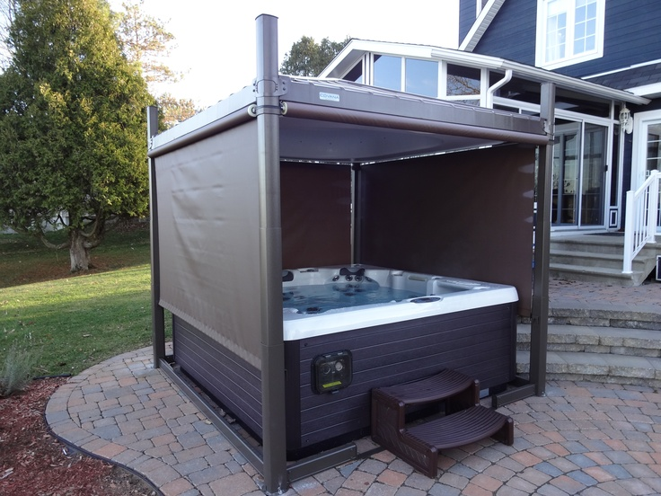 Covana with 3 shades down privacy without compromising for Hot tub styles