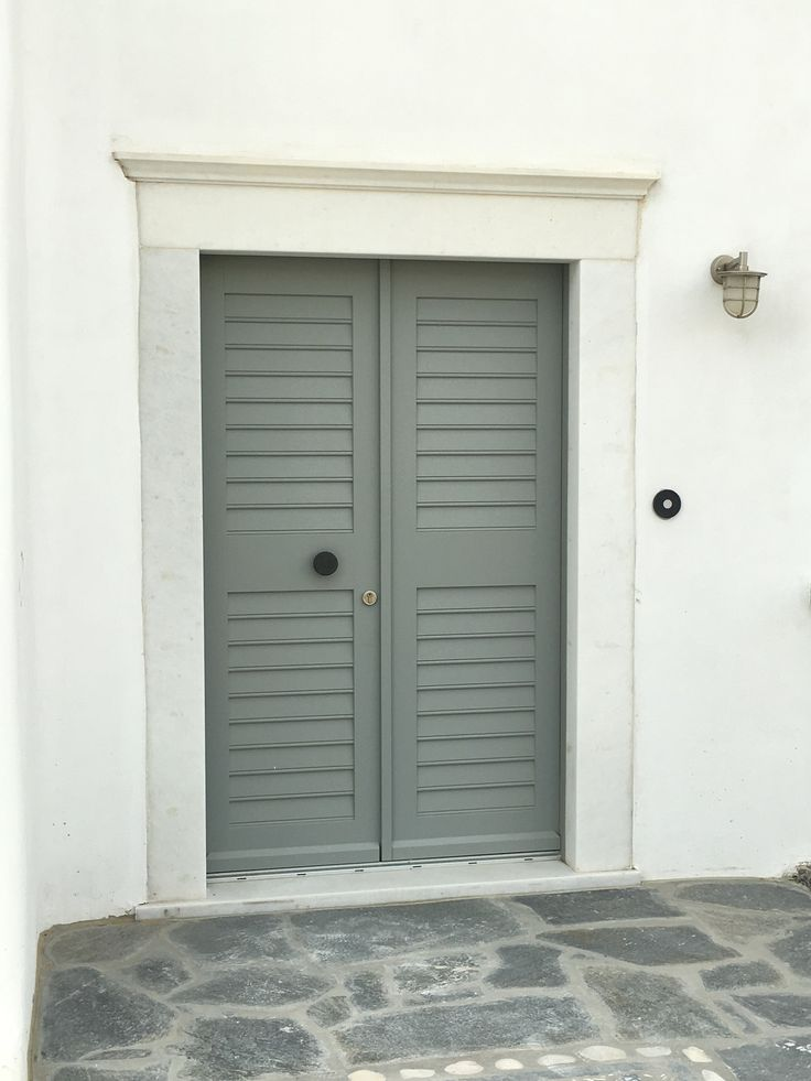 White & Gray Beautiful door made with Accoya wood in shade of pale gray