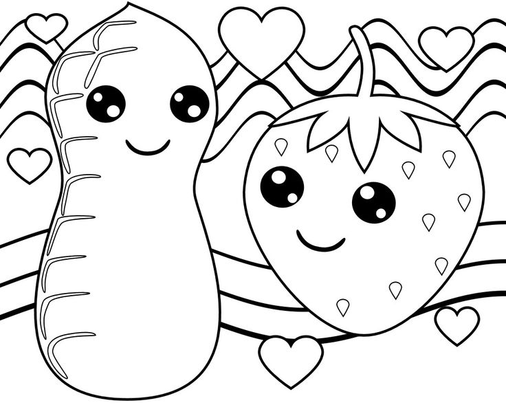 Food Coloring Pages Coloring pages, Food coloring pages