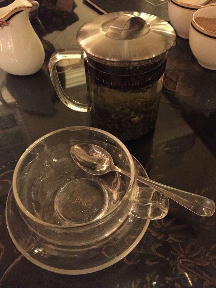 Glass teacup at the Westin Dublin