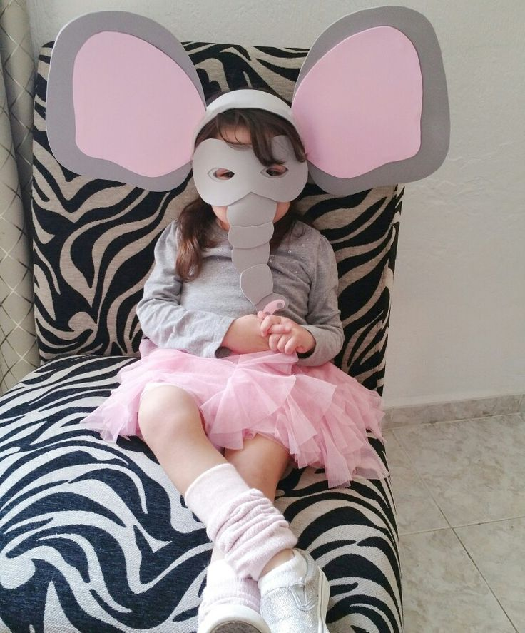 Elephant costume girl