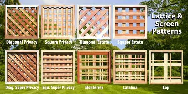 Square privacy heavy duty treated yellow pine wood lattice in a 10
