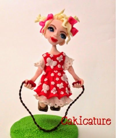 Lulu skip to ma Lou! Lulu Chicka is a gravity-defying sugar figurine hand sculptured by Trish Barber of Cakicature.