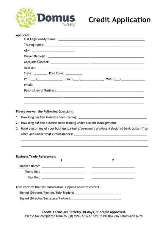 Credit Application Form Check More At Https Nationalgriefawarenessday Com 1508 Credit Application Form Application Form Sample Resume Application