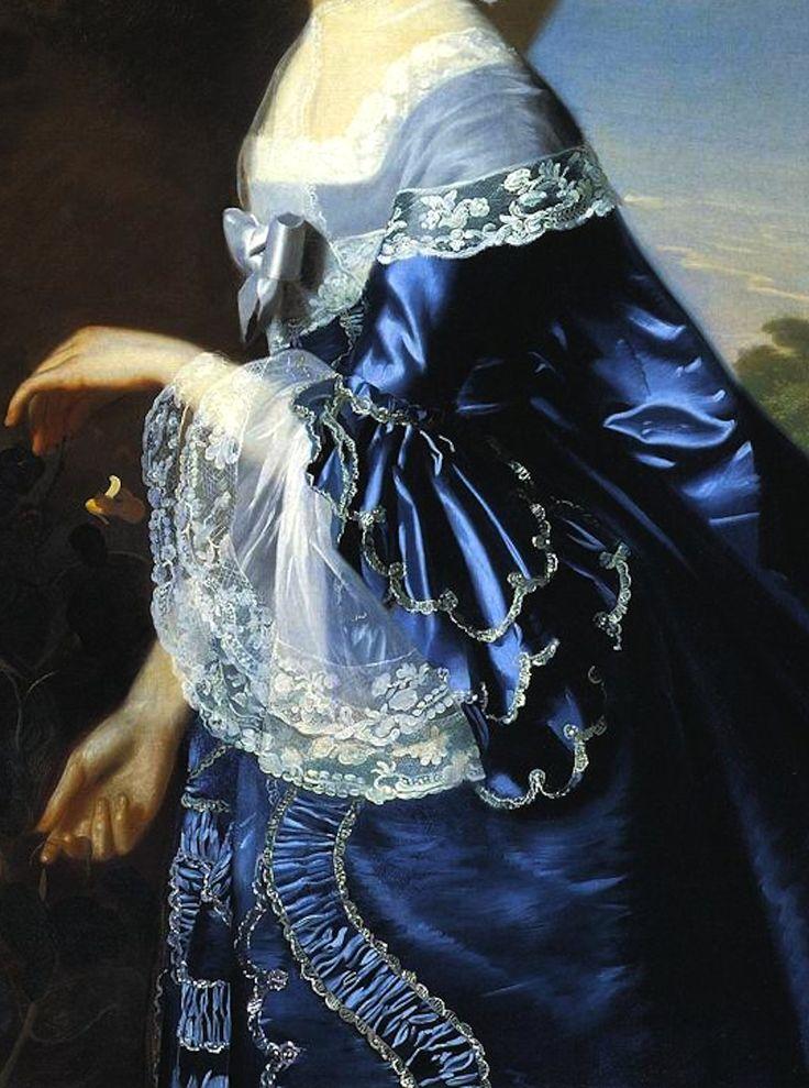 Mrs. James Warren (Mercy Otis) by John Singleton Copley - 1763 (detail)