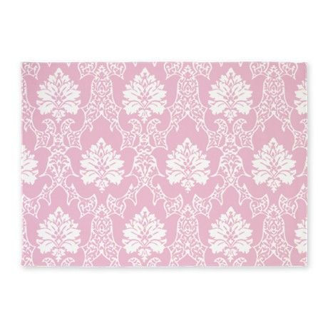 Brown Area Rug For Nursery Light Pink Flower