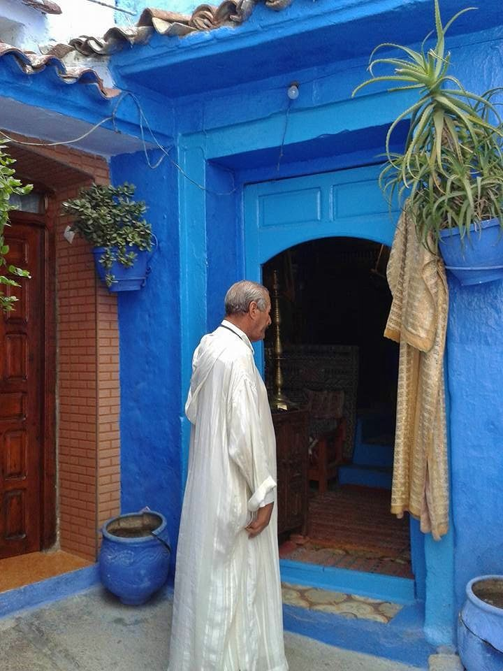 People in Chefchaouen