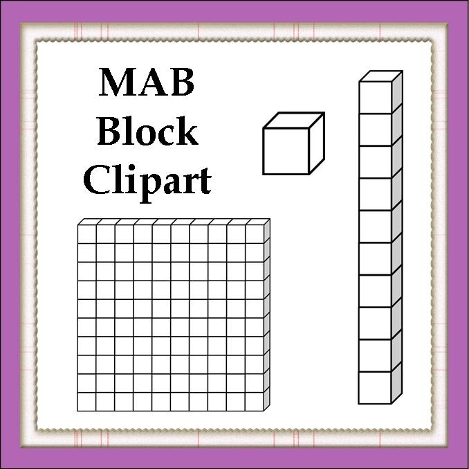 Tens Blocks Clipart Free mab blocks clipart place value / mab / base ...