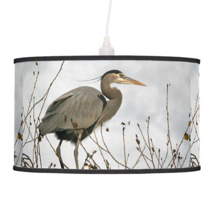 Great Blue Heron Bird Wildlife Animal Lamp - animal gift ideas animals and pets diy customize
