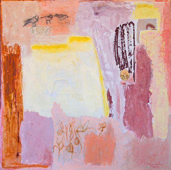 Large canvas abstract Art. Original Painting por AnaGonzalezArt
