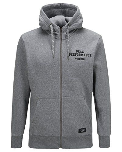 Peak Performance Sweat  Hoodie with zip ** Want to know more, click on the image.