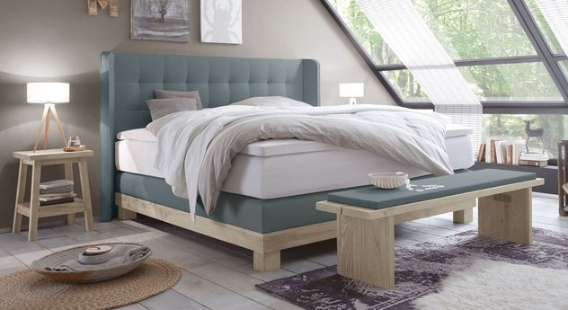 Boxspringbett  - kingsize bett im schlafzimmer vergleich zum doppelbett