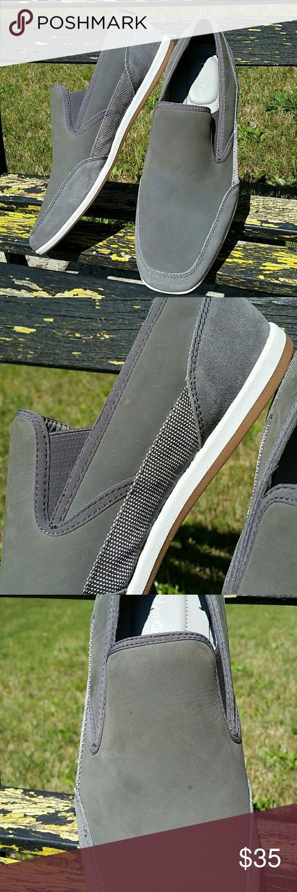 NWOT Calvin Klein Slip On Sneaker Loafers Gray Calvin Klein Slip On Sneaker Loafers Mens Gray 9.5 Calvin Klein Shoes Loafers & Slip-Ons