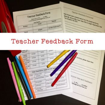Gen Ed Teacher Feedback Form Student Feedback Form For Iep S Sped
