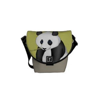 Panda Eating Bamboo Courier Bag