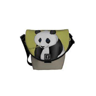 Panda Eating Bamboo Courier Bag