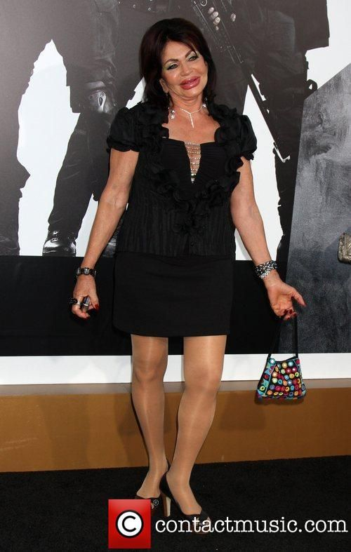 Jackie Stallone and her 90-yr-old legs at the LA premiere of The Expendables 2 at Grauman's Chinese Theatre.