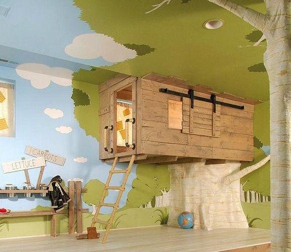 Met deze boomhut kamer komen dromen uit voor de meeste kinderen.