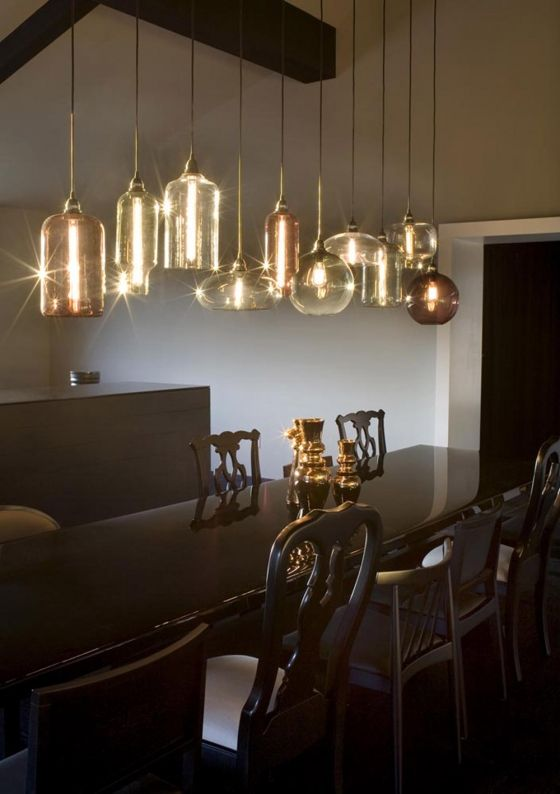 niche modern hand blown glass pendant lighting at merus winery in napa valley - Modern Pendant Lighting For Dining Room